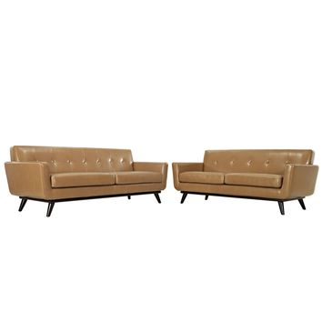 Engage 2 Piece Leather Living Room Set
