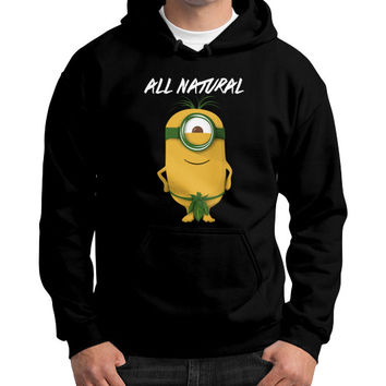 ALL NATURAL MINION Gildan Hoodie (on man)
