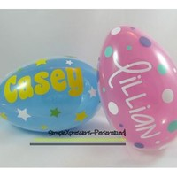 Personalized Jumbo Plastic Easter Egg, Easter Basket, Easter from SimpleXpressions-Personalized!