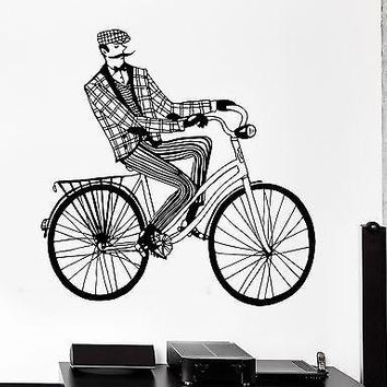 Wall Sticker Sport Bicycle Cycle Retro Cyclist Vinyl Decal Unique Gift (z3016)