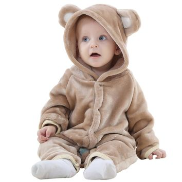 IDGIRL Baby Girls Boys Romper Bear Style Jumpsuit Autumn & Winter Cosplay Clothes