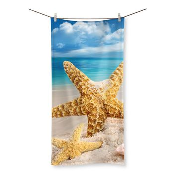 Starfish, Shells & Beach Beach Towel
