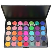 2017 Professional New 35 Color Eyeshadow Palette Shimmer Matte Beauty Make up Pallete Set Smoky Eye shadow Makeup Kit E