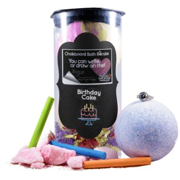 Birthday Cake | Jewelry Chalkboard Bath Bombs