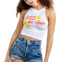 Leave Me Alone Crop Top