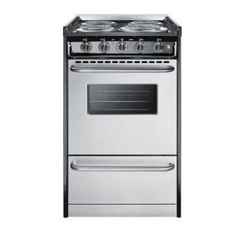 Summit Appliance 20 in. 2.5 cu. ft. Slide-In Electric Range in Stainless Steel-TEM110BRWY - The Home Depot