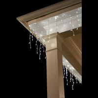 Roundtripping Ltd., E/O 100 LED White Dome Icicle Lights, TY421-915-W at The Home Depot - Mobile