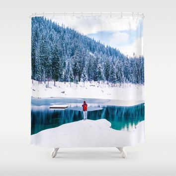 By The Lake Shower Curtain by Gallery One