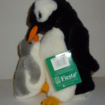 Fiesta Penguin Family Mother & Baby Child Plush Animal