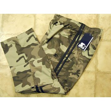 Boys Starter Athletic Woven Track Pants Mesh Camo Black Red Grey Blue