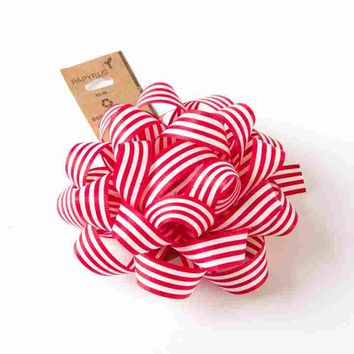 Eco-Friendly Candy Cane Bow