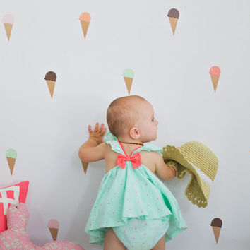 Vinyl Wall Sticker Decal Art - Ice Cream Cones