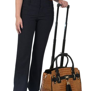 """THE CARMEL"" Alligator Rolling iPad, Tablet or Laptop Tote Briefcase or Weekender Bag"