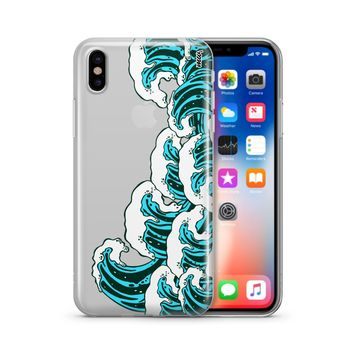 Full Great Wave Off Kanagawa - Clear TPU Case Cover Phone Case