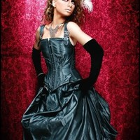 Taffeta Victorian or Gothic Steampunk Bustle by AzraelsAccomplice