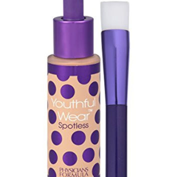 Physicians Formula Youthful Wear Cosmeceutical Youth-Boosting Spotless Foundation SPF 15, Light, 1 Ounce
