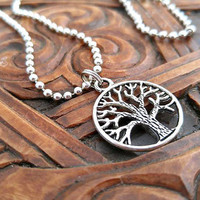 Tree of Life Necklace, Tree of Life Necklace, Tree Necklace, Silver Tree Necklace, Pagan Necklace