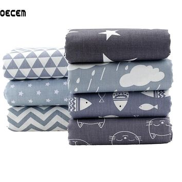 Quilting Cotton Fabric Gray Series Fat Quarter Bundles Fabric For Tela Patchwork Tissue Kids Bedding 7pcs 40X50CM O2-7-4