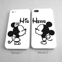 Mickey And Minnie Mouse Kiss Matching Couples Phone Cases for iPhone Case