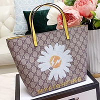 GUCCI New fashion floral more letter print leather shoulder bag handbag