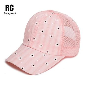 [Rancyword] 2017 New Brand Women's Baseball Cap with Mesh Back Bone Hip Hop Hat Lady