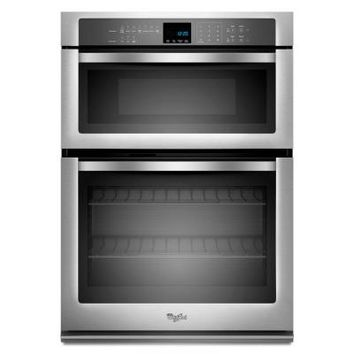 Whirlpool 27 in. Electric Wall Oven with Built-In Microwave in Stainless Steel-WOC54EC7AS at The Home Depot