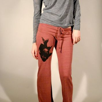 Supermarket - Screen Printed Fish Pant Eco Burgundy from Branch Handmade