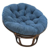 Indigo Suede Papasan Chair Cushion (base and bowl sold separately)