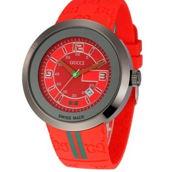 High Quality Gucci Ladies Fashion Casual Watches Wrist Watch- Red