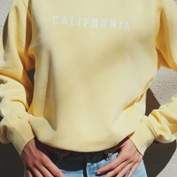 California Sweatshirt - Yellow