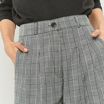 Urban Renewal Vintage Remnants Grey Checked Trousers - Urban Outfitters