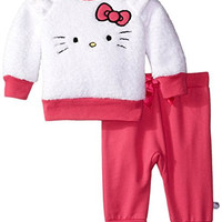 Hello Kitty Baby Baby-Girls Newborn Plush Pant Set, Multi, 6 Months