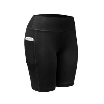 Quick Dry Elastic Workout Shorts with Pocket