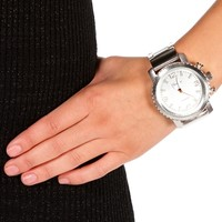 White Silver XL Boyfriend Watch