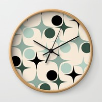 RETRO Pattern #society6 #decor #buyart Wall Clock by mirimo