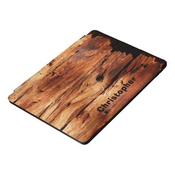 Weathered Wood Siding Photo Personalized Rugged iPad Pro Cover