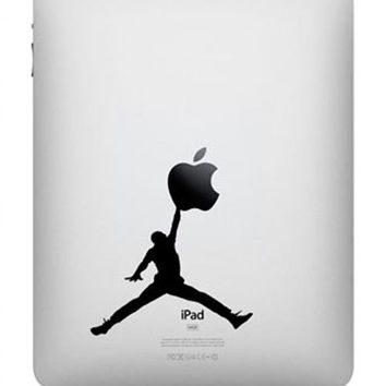 Jordan -- iPad Decal iPad Sticker Art Vinyl Decal for Macbook Pro / Macbook Air / iPad 1 / iPad 2 / iPad 3/iPad 4/ iPad mini