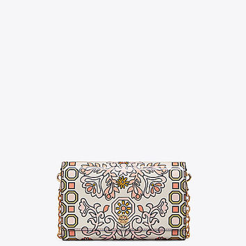 Tory Burch Kira Metal Octagon Clutch