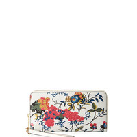 Tory Burch Parker Floral Zip Continental Wallet