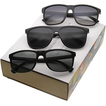 Retro Modern Casual Lifestyle Horn Rimmed Sunglasses A351 [Promo Box]
