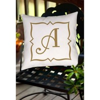 Thumbprintz Gold Script Monogram Decorative Pillows - Walmart.com
