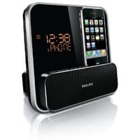 Philips DC315/37 Speaker System for iPod/iPhone with LED Clock Radio (Black)