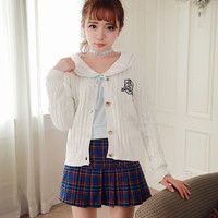Bobon21 High School Uniform Knit Cardigan