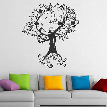 tree of Life wall decals Tree Decor Celtic wall decals for Living Room for Yoga Studio Decor kik3329