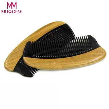 Horn Wood Pocket Beard Hair Comb Fine Tooth Natural Handmade Sandalwood Ox Horn Khaki Horns Fight Green Sandalwood Combs
