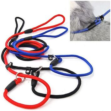 2015 New Pet Dog Nylon Rope Training Leash Slip Lead Strap Adjustable Traction Collar  51AM