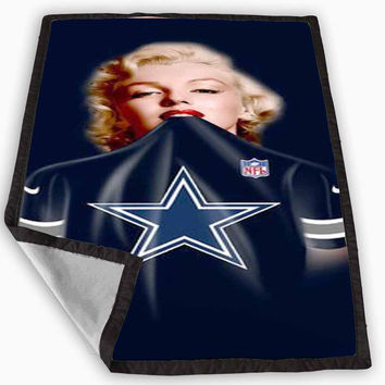 Marilyn Monroe Dallas Cowboys Blanket for Kids Blanket, Fleece Blanket Cute and Awesome Blanket for your bedding, Blanket fleece *