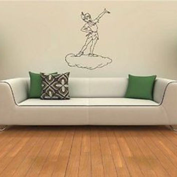 Peter Pan on the cloud Wall Art Sticker Decal 263
