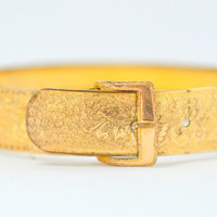 Antique Victorian Engraved Buckle Bracelet by Hayward