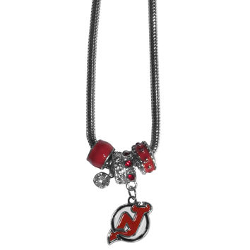New Jersey Devils Charm Necklace